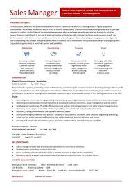 Sales Manager Cv Template Sales Manager Resume Templates Free Excel Templates