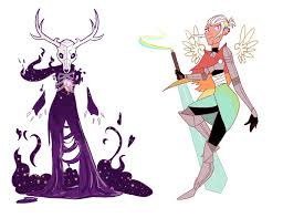 Demon Horn Designs Artstation Demon And Angel Character Designs L M Morgan