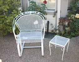 salterini wrought iron furniture. Vintage Wrought Iron Patio Furniture   Etsy With Regard To Woodard Salterini