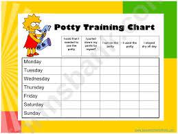 Potty Training Sticker Chart Printable The Simpsons Potty Training Sticker Chart Printable Pdf Download