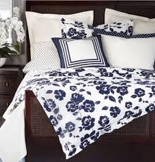ralph lauren modern glamour cream navy king duvet comforter cover