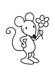 Kleurplaat Muis Met Bloem Diversen Pattern Coloring Pages Mouse