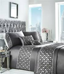 sequin bedding set king size duvet grey charcoal silver soft luxury quilt cover bed sparkle sets
