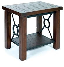 wood metal end table wood metal coffee table iron end tables with glass tops new round