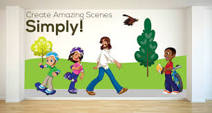 creative for kids room wall stickers are professionally designed and perfect for your children s ministry check in foyer hallways kids church rooms