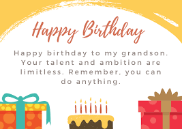 Custom birthday ecards that won't end up in the trash. 101 Unique Happy Birthday Grandson Messages And Quotes Futureofworking Com