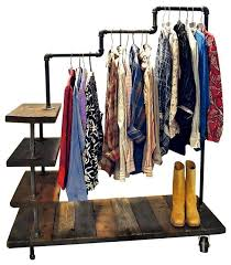 diy clothing rack shelf diy hanging clothes racks for laundry room