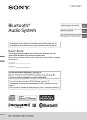 sony mex n5100bt manuals