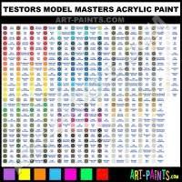 Testors Model Master Paint Chart Testors Enamel Paint