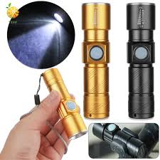 Đèn Pin Led Mini Siêu Sáng Sạc Usb Có Thể Thu Phóng Tiện Dụng - Đèn pin