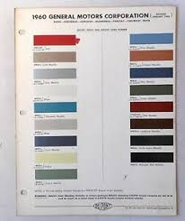 Details About 1960 Gm Dupont Color Paint Chip Chart Chevy Buick Oldsmobile Pontiac All Models