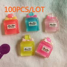 How To Decorate Perfume Bottles Wholesale 100PCS Mini Transparent Perfume Bottle Flatback Resin 66