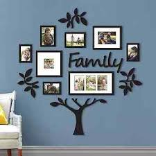 image is loading new family tree collage photo picture frame set  on tree photo collage wall art with new family tree collage photo picture frame set plaque wall art