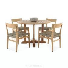 round pedestal table a grade teak round pedestal dining set 0 small pedestal table canada