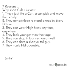 Short Cute Quotes Fascinating 48 Reasons Why Short G Quotes Writings By Sunny Singh
