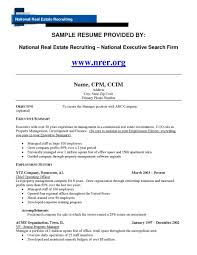 Property Manager Resume Objective From Property Manager Resume
