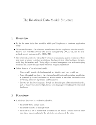 The Relational Data Model Structure