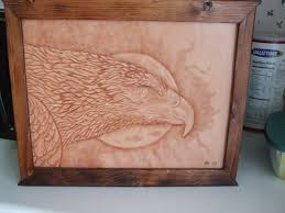 custom made tooled leather wildlife art