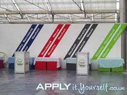 wall decals large booth trade show