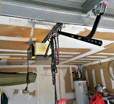 garage door opener chain hanging