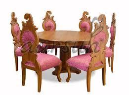 teak wood round dining set size 72 x 48 inch