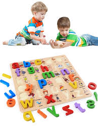 Buy Kid's <b>Puzzle</b> Letters Learning Educational Wooden Alphabet ...