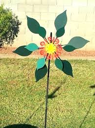 wind spinners for the garden by premier designs handmade double leaf spinner in metal p
