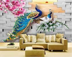3d wall painting, Peacock wall art ...