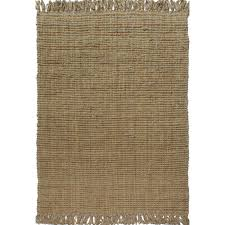 a1hc handspun boucle natural 8 ft x 10 ft area rug with fringes