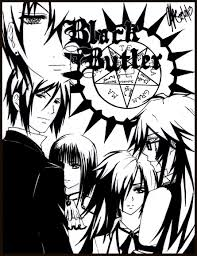 new black butler sebastian coloring pages free 7 e black butler fanfiction cover