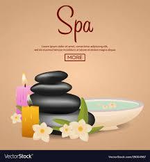Spa Banner Design Spa Salon Banner With Stones Thai Massage Wood