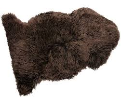 dark chocolate brown sheepskin rug