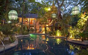 This villa is located in the beach resort town of Hua Hin, about 125 miles