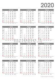 Calendario 2020 Da Stampare 10 Calendari Da Scaricare Gratis In Pdf