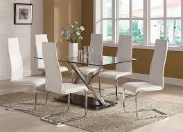 designer dining room chairs. Coaster Modern Dining Contemporary Room Set With Glass Table - Fine Furniture Designer Chairs