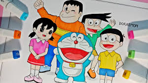 Vẽ Doraemon và những người bạn - Doraemon chú mèo máy đến từ tương lai -  Tiên Mio - YouTube