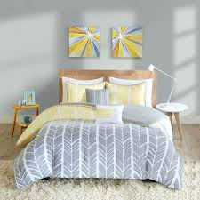 grey chevron bedding intelligent design yellow comforter set free with and sets ideas single