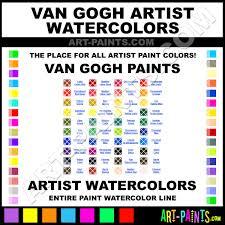 Surprising Van Gogh Watercolors Color Chart Sennelier