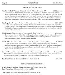 Math Teacher Resume 14 Sample - Techtrontechnologies.com