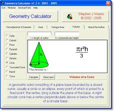 calculate and convert various geometrical values