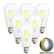 <b>LED Edison Vintage Light</b> Bulbs, <b>4W</b> 4000K Daylight White ...