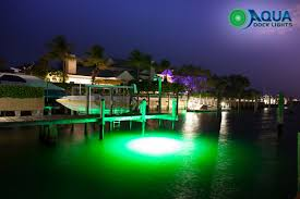 underwater dock lights led green aqua dock lights