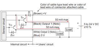 amplifier built in u shaped micro photoelectric sensor compact pnp output type i o circuit diagram