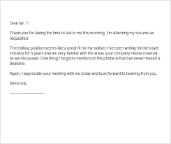 thank you letter after interview interview thank you letters template