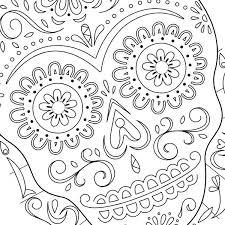 Day Of The Dead Coloring Pictures Zupa Miljevcicom