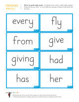 1st Grade Flash Cards Dolch Sight Word Flashcards School Sparks