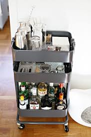 The Raskog comes in a sleek gray hue (and takes spray paint well, too), so  it works well as an understated, Mad Men-esque bar cart in the living room.