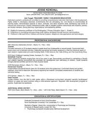 Elementary School Teacher Resume Legalsocialmobilitypartnership Com