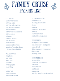 Packing List For Summer Vacation Free Packing Lists For All Kinds Of Family Vacations