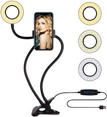 Ring Light For Phone Amazon Selfie Ring Light With Cell Phone Holder Circle Lights Led Lighting For Photo Photography Vlogging Video
